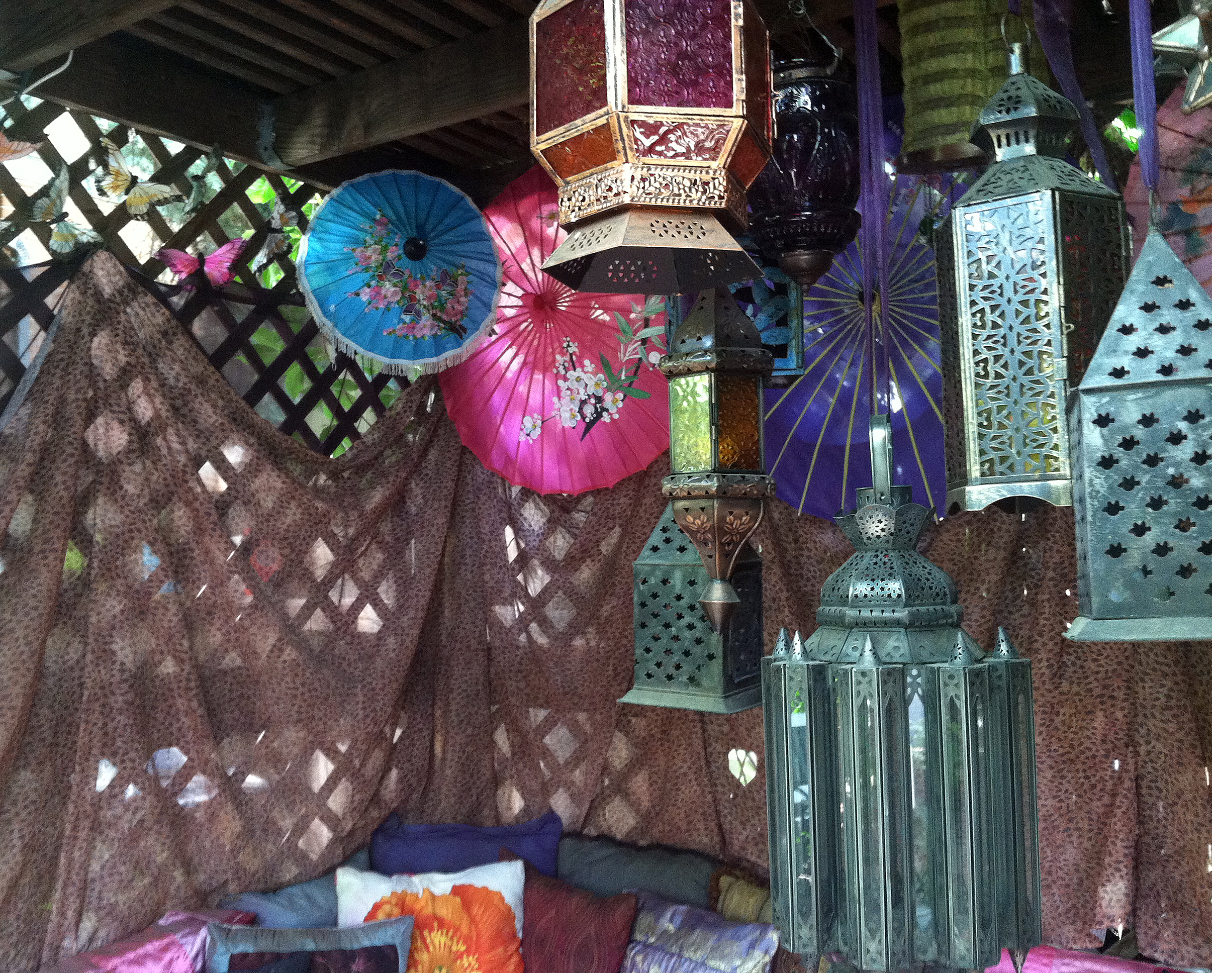 Diy Exotic Asian Moroccan Gazebo Restyle With Thrift Store