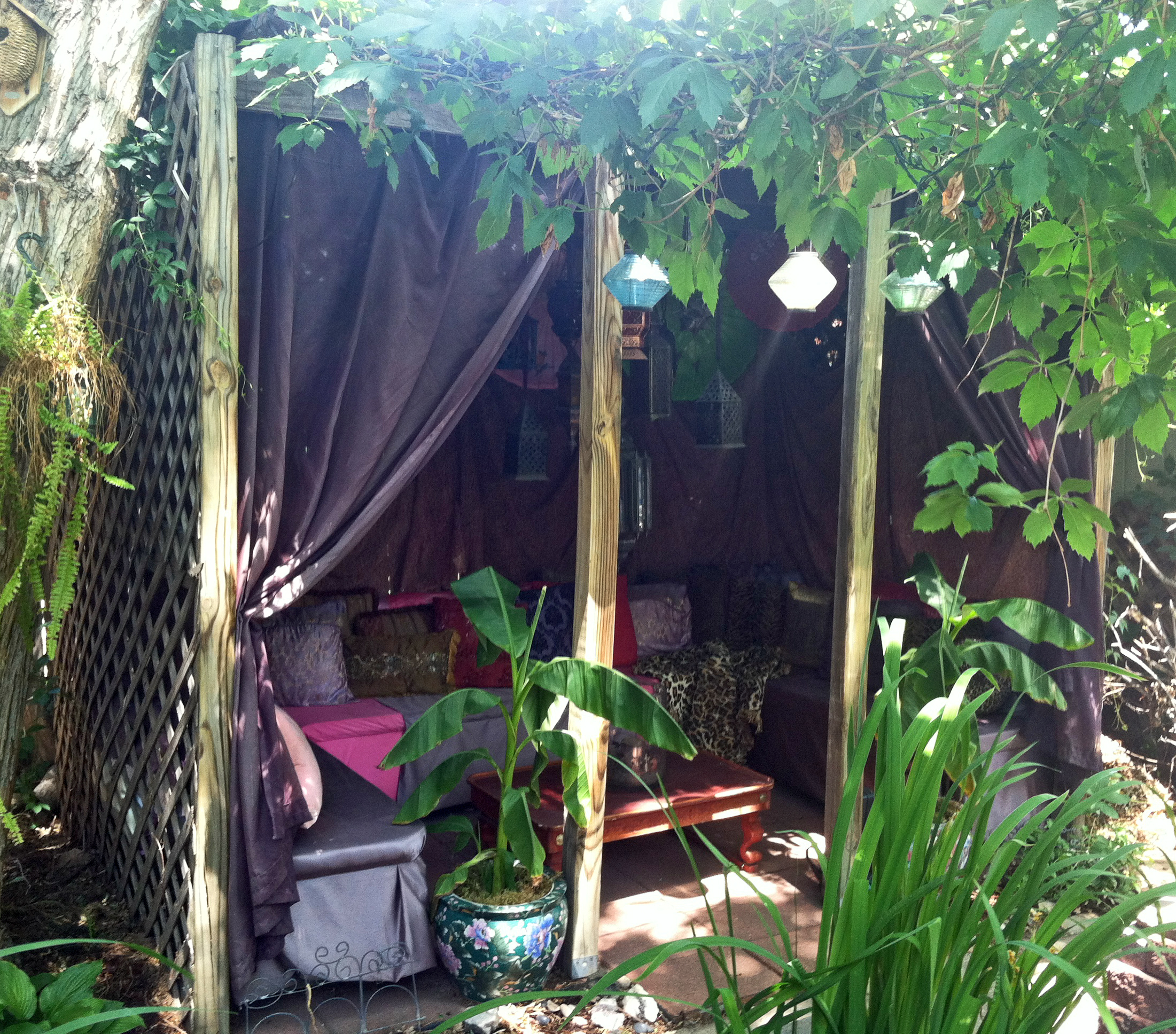 diy exotic asian moroccan gazebo restyle with thrift store finds