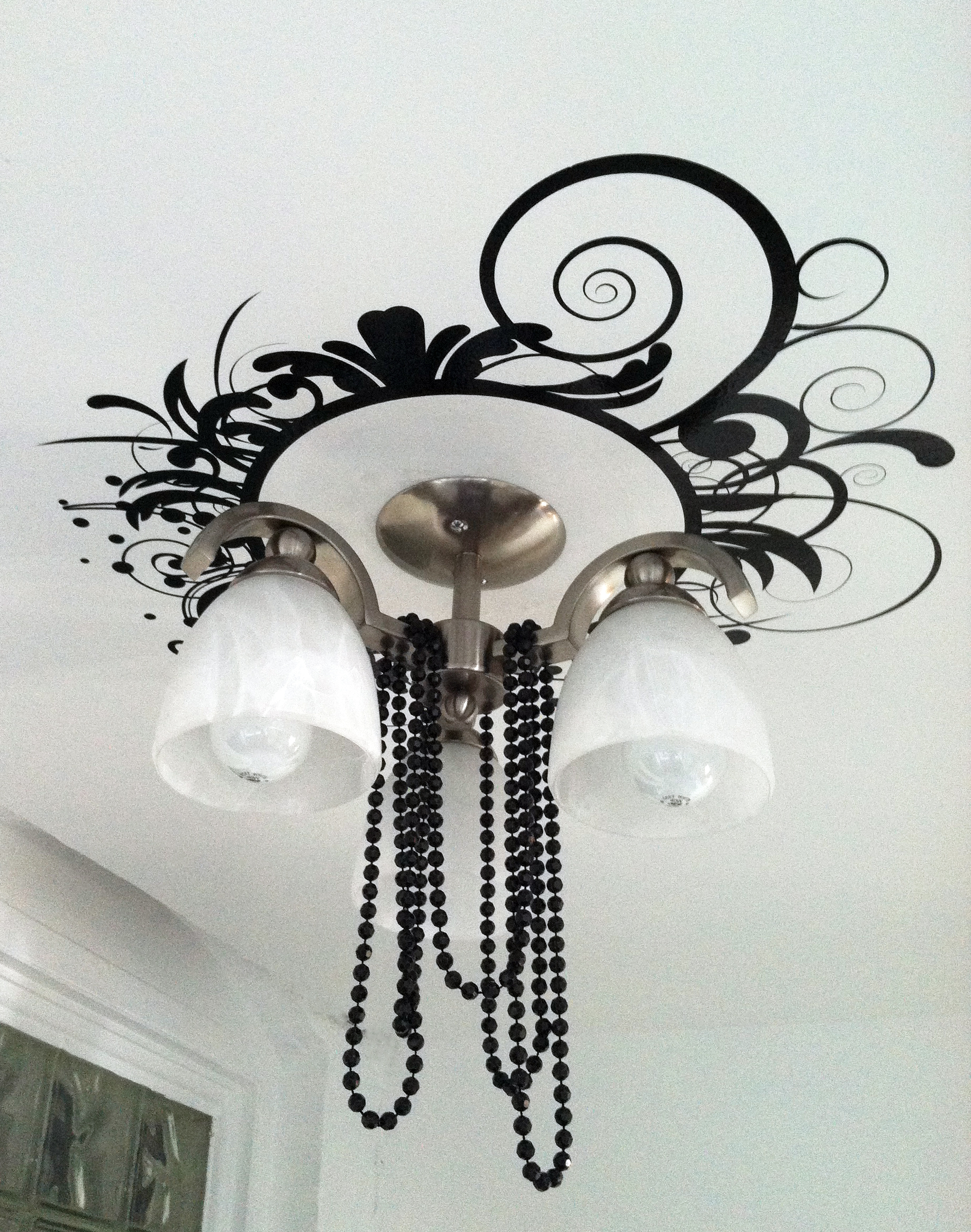 ceiling medallion builders fixtures fixture glass img of framed light mirror mounted to for