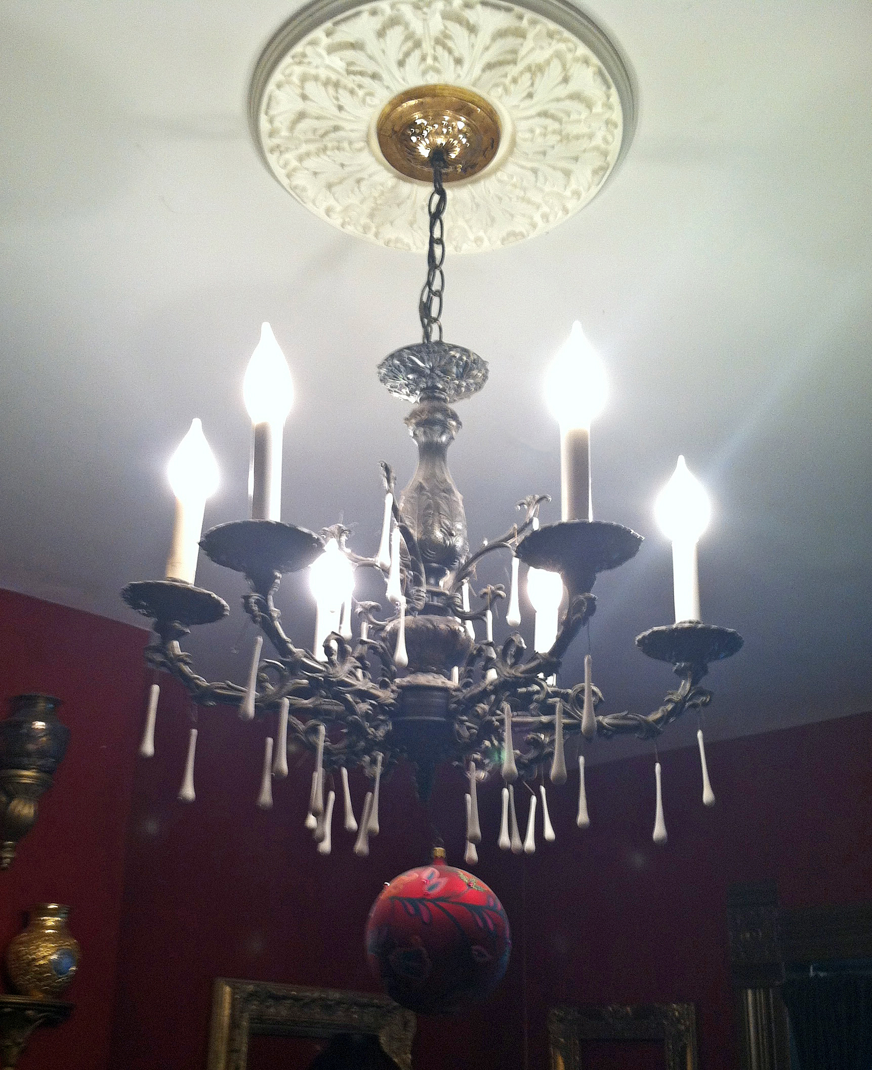 A Tale of Two Chandeliers DIY Lighting Make overs
