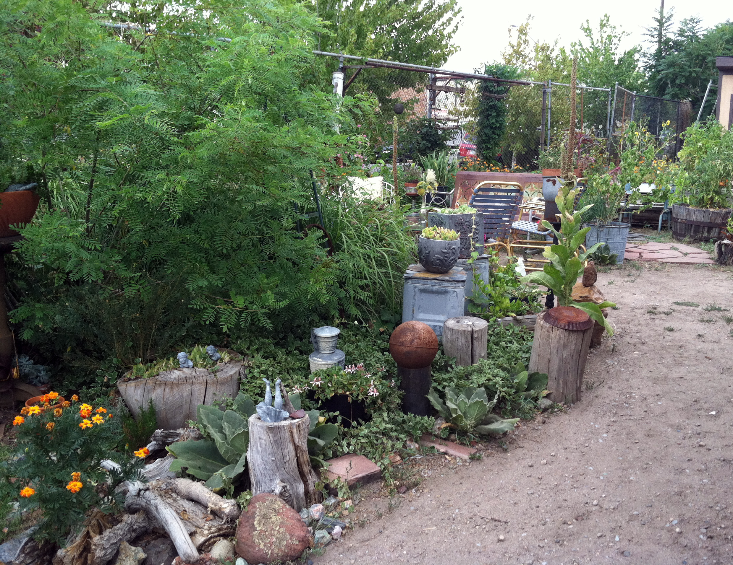 An industrial found object garden delights more fun ideas for Ideas for your garden