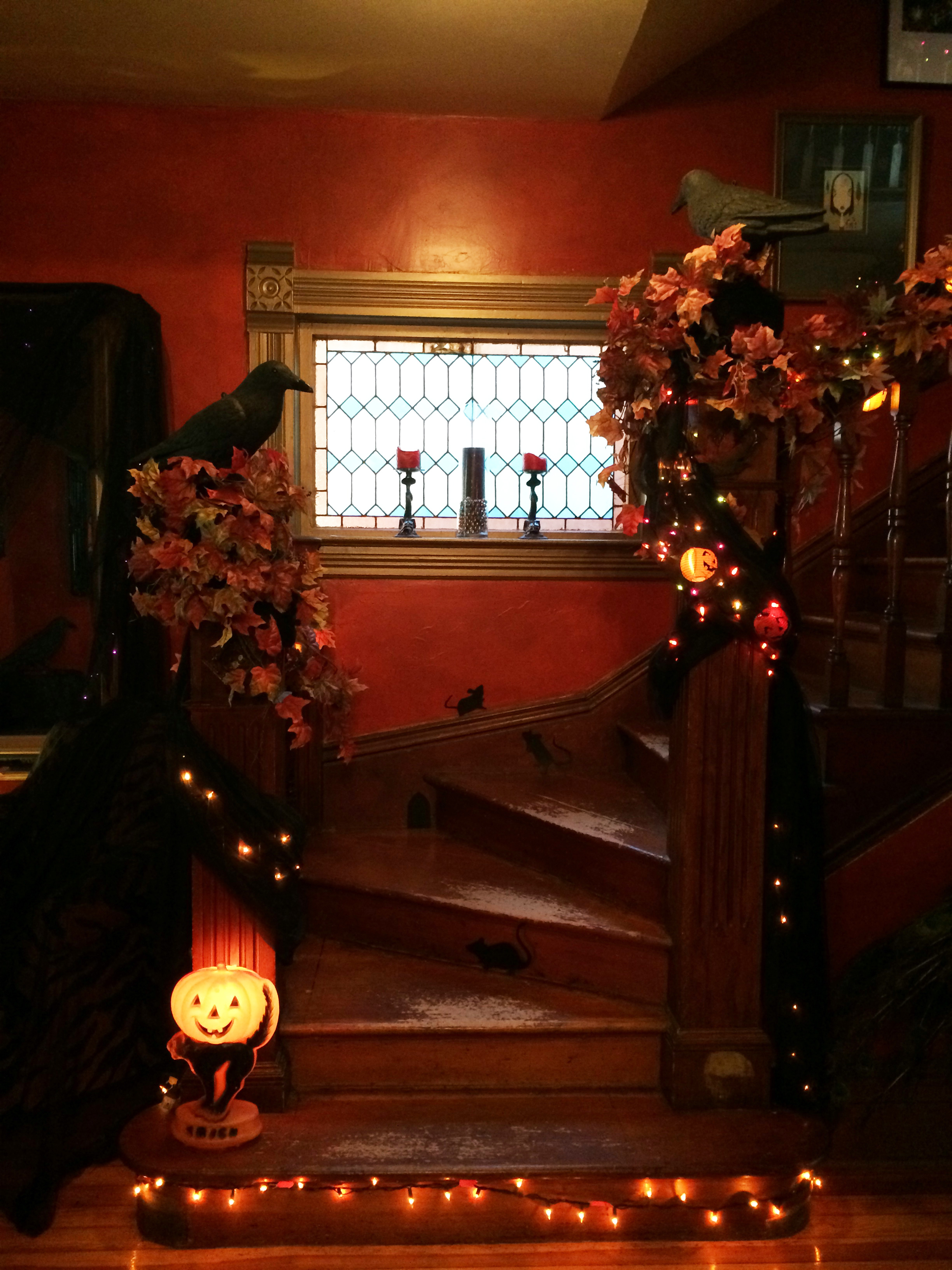 Victorian gothic halloween a home tour part 2 the entry for Halloween home decorations